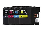 Brother High Yield Color Ink Cartridge, XL, Black Cyan Magenta Yellow, Pack of 4 (LC103) by Brother