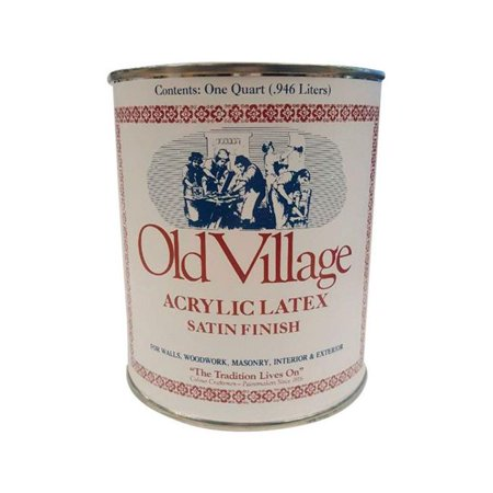 Old Village 1857911 Satin New England Red Water-Based Acrylic Latex Paint, 1 qt. - Case of (Best Way To Strip Old Paint)