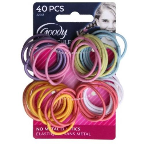 Goody Ouchless Medium Elastics 2mm 40 ea (Pack of 2)