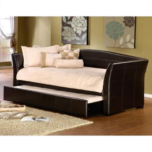 Hillsdale Montgomery Daybed in Brown Faux Leather-Without Trundle