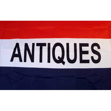 Deluxe Quality Polyester (Antiques Flag 3' X 5' Deluxe Indoor Outdoor Business Sign Banner, A quality flag made of super polyester with two Metal grommets on inner flyside for easy flag.., By Nuge,USA )