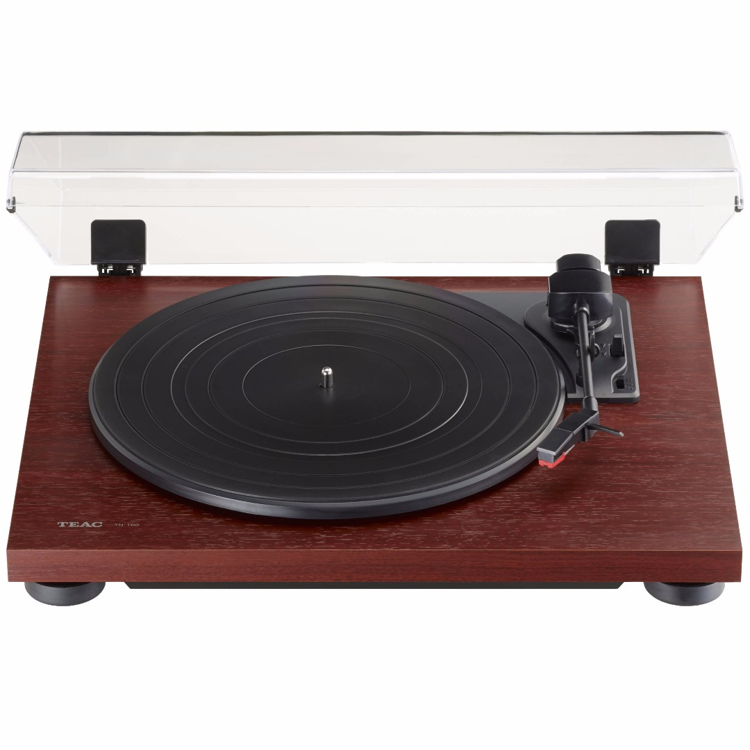 TEAC TN-100 3 Speed Analog Turntable with USB Output (Cherry Brown)