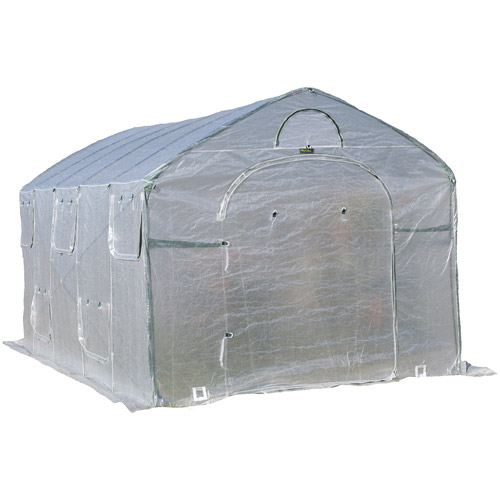 Flowerhouse 8'L x 9'W x 15'H Easy Pop-Up FarmHouse Greenhouse by Flowerhouse