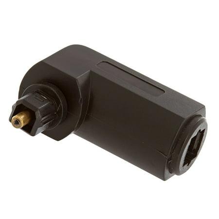Cmple - Optical Toslink Jack to Toslink Plug Angled - Angle Adapter Jack
