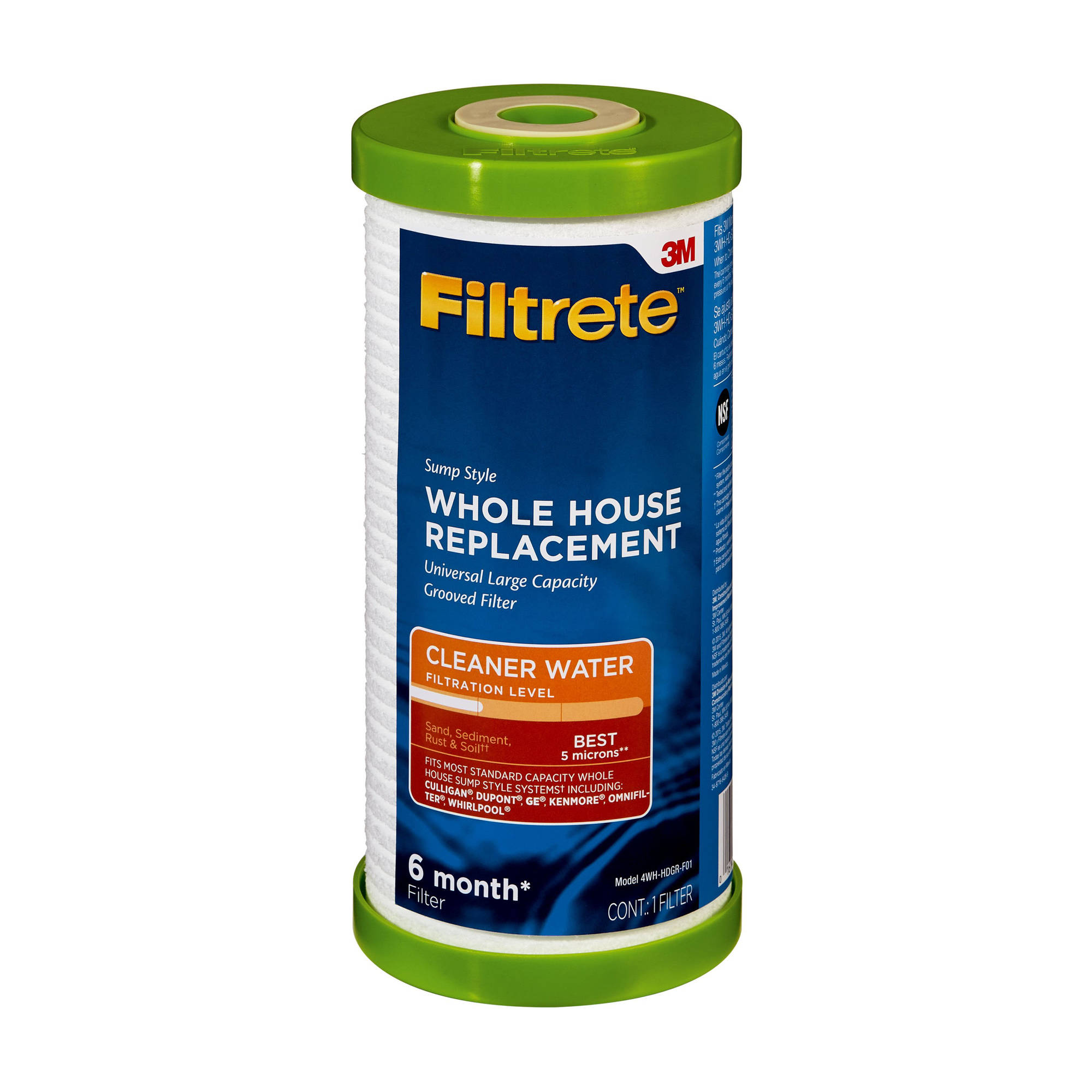 "Filtrete"" Large Capacity, Grooved Replacement Filter, Sump Style (sediment - best) - 1 pack"