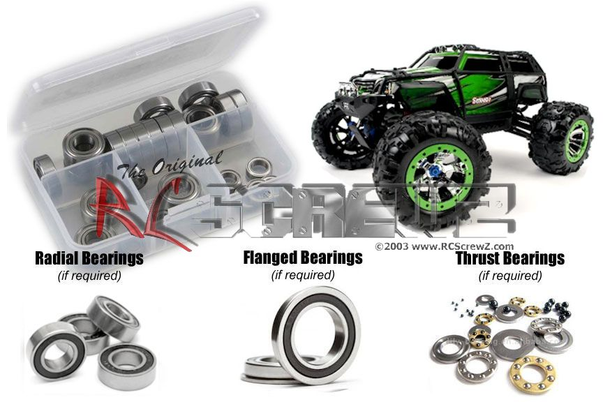 RC Screwz Rubber Shielded Bearing Kit for Traxxas 1 10 Summit Extreme Terrain by RCScrewZ