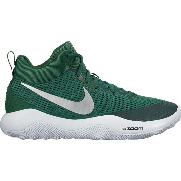 green nike basketball shoes