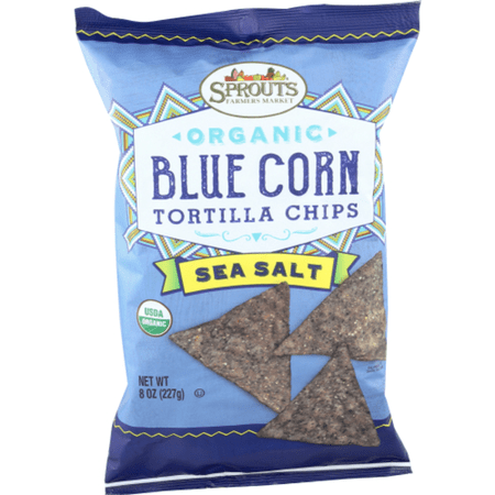 - Sprouts Organic Sea Salt Blue Corn Tortilla Chips, 8 OZ