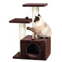 Trixie Pet Products 28 in. Cat Tree Valencia, Brown