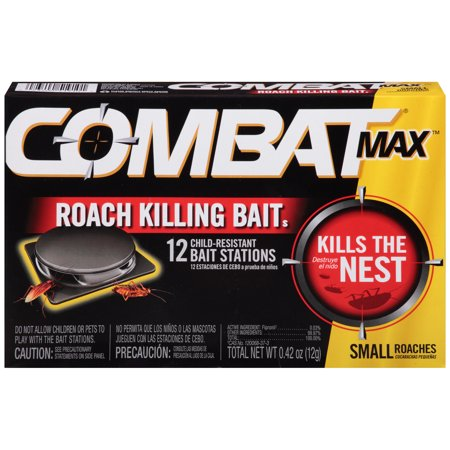 Combat Max Roach Killing Bait, Small Roach Bait Station, 12 (Best Product To Kill Roaches)