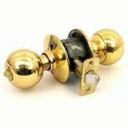 Schlage Lock F51A Orb 605 Orb Entrance K4 Bright Brass