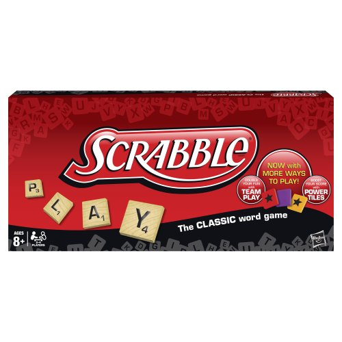 Hasbro Scrabble Crossword Game with Power Tiles (Pack of 14) by