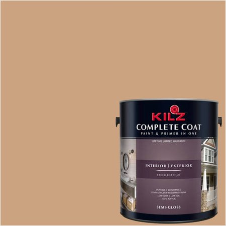 KILZ COMPLETE COAT Interior/Exterior Paint & Primer in One, #LC240-01 Raw