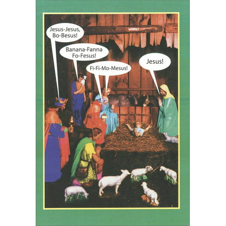 Nobleworks Name Game Box of 12 Funny / Humorous Christmas Cards