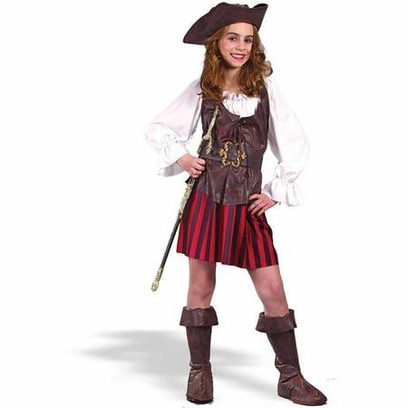 Girl High Seas Buccaneer Child Halloween Costume