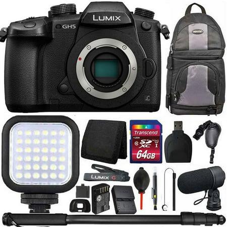 Panasonic Lumix DC-GH5 Mirrorless Micro Four Thirds Digital Camera (Body Only) + 64GB Accessory Kit