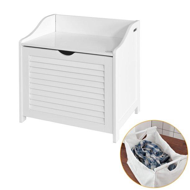 Haotian White Bathroom Storage Cabinet