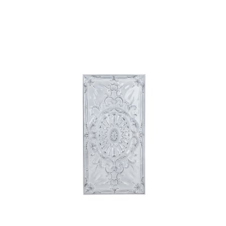 Decmode Traditional 37 X 19 Inch White Metal Sunflower And Scrollwork Wall