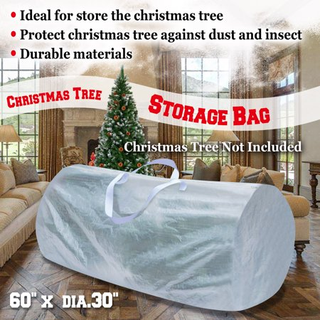 Strong Camel Heavy Duty Large Artificial Christmas Tree Storage Bag WHITE COLOR For Clean Up Holiday Up to 9ft