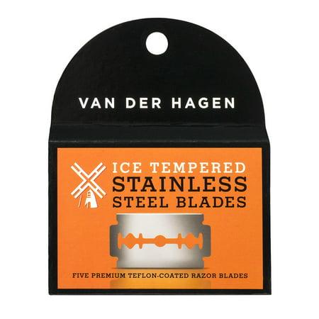 Van Der Hagen Stainless Steel Double Edge Razor Blades 5