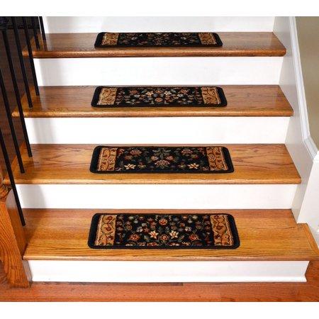 - Dean Premium Super Soft Nylon Carpet Stair Treads/Runner Rugs - Renaissance Black - Set of 15 - 20