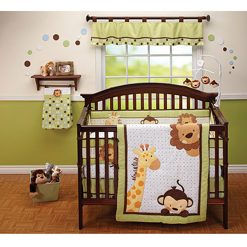 Little Bedding by NoJo Jungle Pals 3pc Crib Bedding Set - Value Bundle