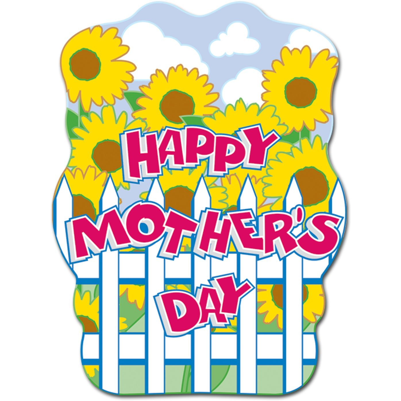 Happy Mother's Day Sign Party Accessory (1 count), 1 Cutout per package By Beistle