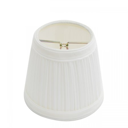 Lamp Shade White Fabric 4 116 Mini Clip On Renovators Supply