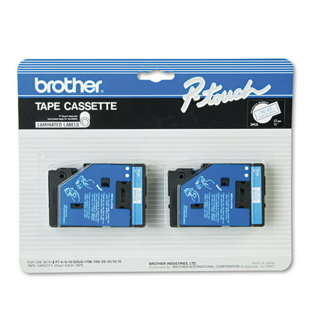 Brother P-Touch TC Series Standard Adhesive Laminated Labeling Tape