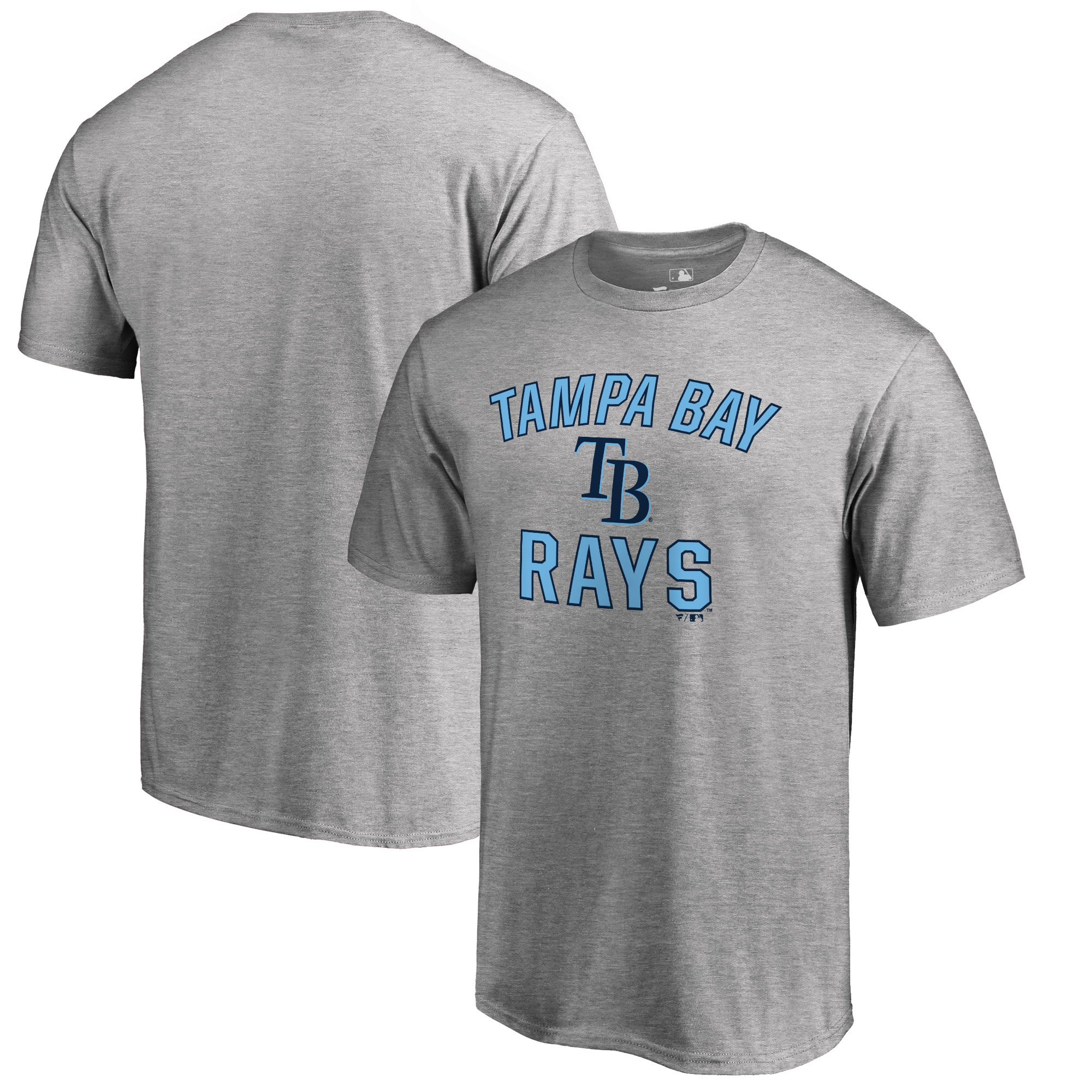 Tampa Bay Rays Big & Tall Victory Arch T-Shirt - Ash