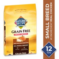 Nature's Recipe Small Breed Grain Free Dry Dog Food Easy to Digest Chicken, Sweet Potato & Pumpkin Recipe (Various Sizes)