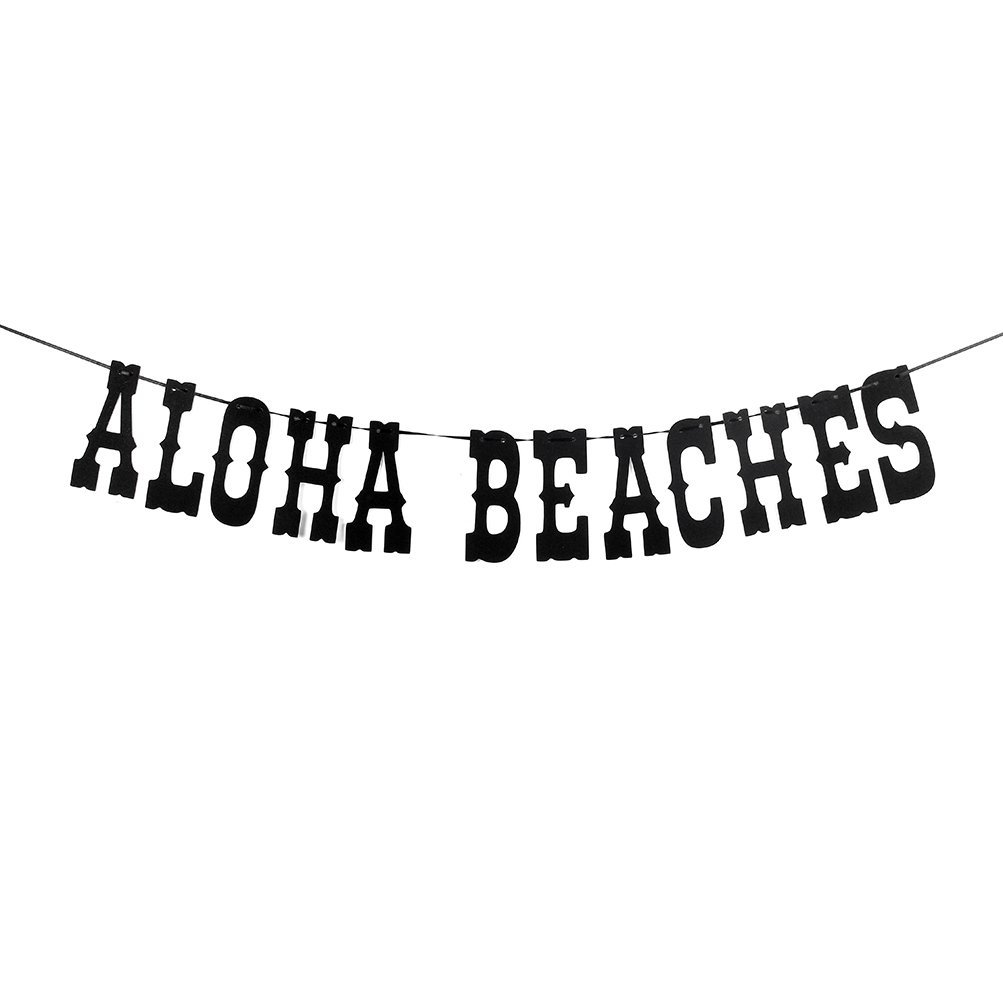 Aloha Beaches Banner Pineapple Luau Theme Party Signs Bunting