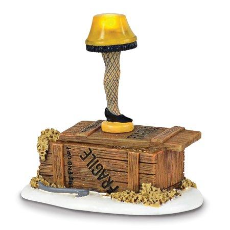 Department 56 A Christmas Story Village Lit Leg Lamp Figurine (A Christmas Story Leg Lamp)