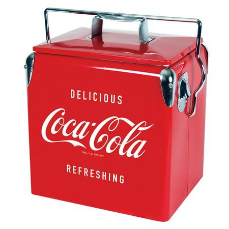 - Coca Cola Vintage Retro 14 Quart (13 Liter ) Ice Chest Picnic Cooler