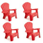 Little Tikes Garden Chair Pink 4 Pack (15.25 in. W x 18.75 in. D x 22 H in. )