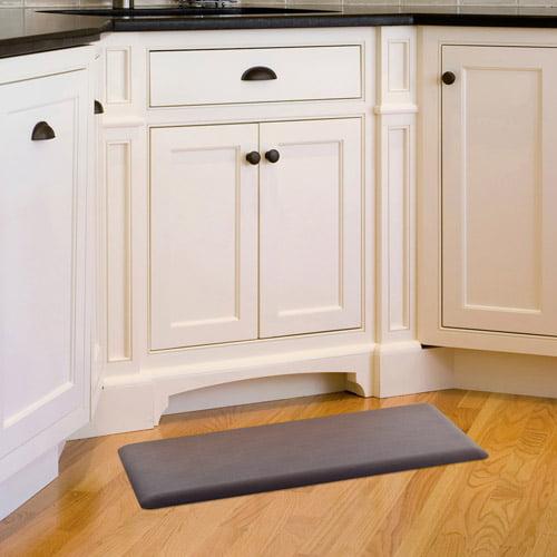 "somerset home memory foam kitchen comfort mat, 20"" x 36"", brown"