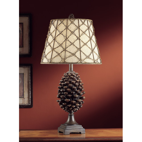Pine Bluff 30-Inch Table Lamp, Natural Pinecone