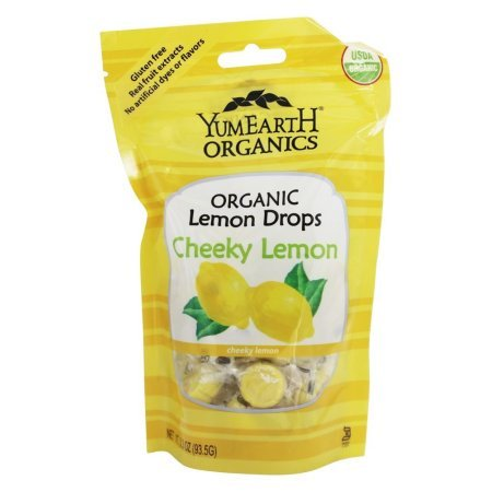 Yummy Earth Organic Candy Drops, Cheeky Lemon, 3.3 Oz