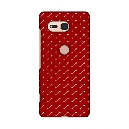 Sony Xperia XZ2 Compact Case - Arrows Pattern, Hard Plastic Back Cover, Slim Profile Cute Printed Designer Snap on Case with Screen Cleaning Kit (Pattern Plastic Back Cover)