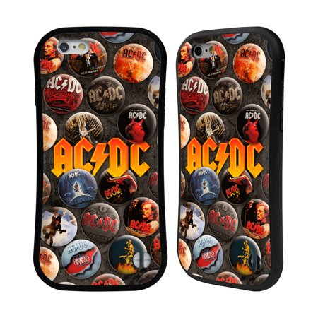 OFFICIAL AC/DC ACDC BUTTON PINS HYBRID CASE FOR APPLE IPHONES PHONES -  Walmart com