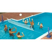 Swimline Vinyl Cross Inground Fun Volleyball Net Wateret Pool Games, Multicolor