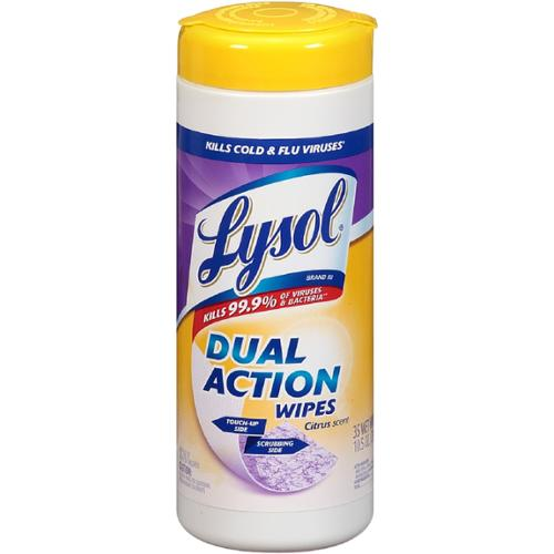 LYSOL Dual Action Disinfecting Wipes, Citrus Scent 35 ea (Pack of 4)