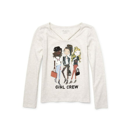 The Children's Place Strap Front Long Sleeve Graphic - Disney Children's Clothing