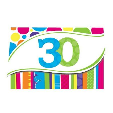 30th Birthday Invitations For Him (Access Bright And Bold 30th Birthday Invitation Card, 8)