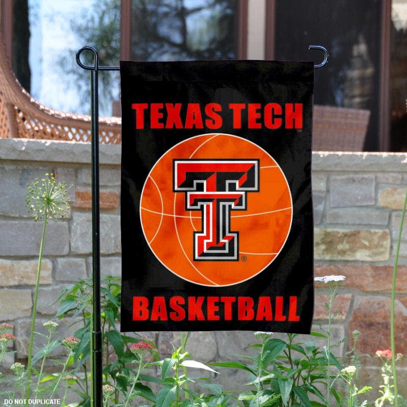 "Texas Tech Red Raiders Basketball 13"" x 18"" College Garden Flag"