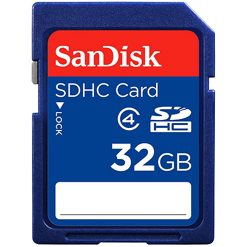 SanDisk 32GB Secure Digital High Capacity Card