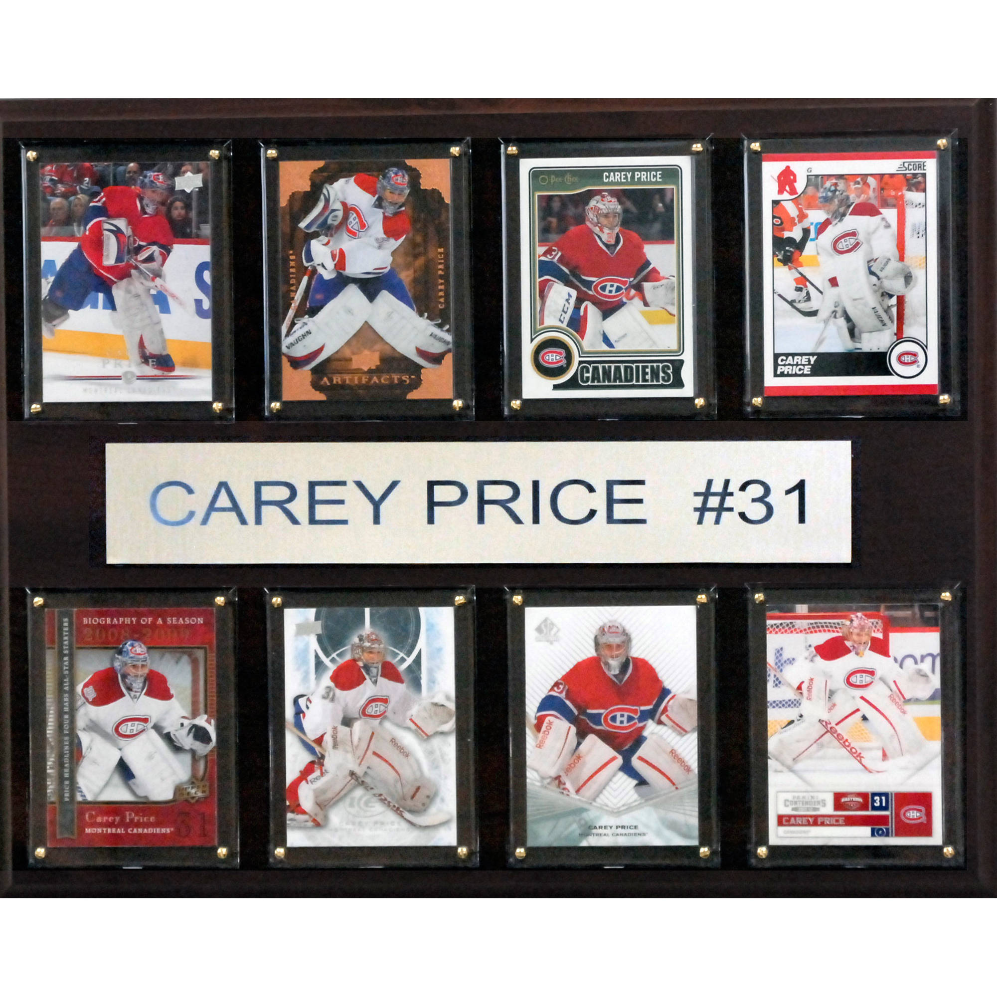 C&I Collectables NHL 12x15 Carey Price Montreal Canadiens 8-Card Plaque