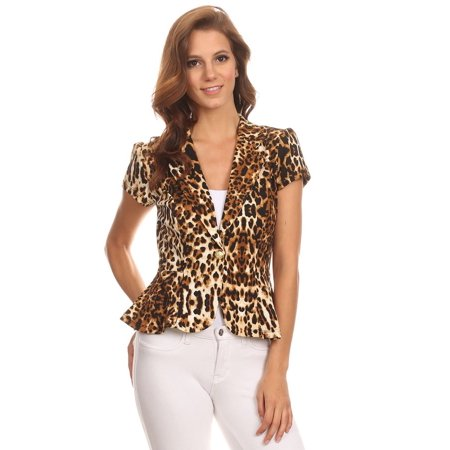Women's Short Sleeves printed Jacket
