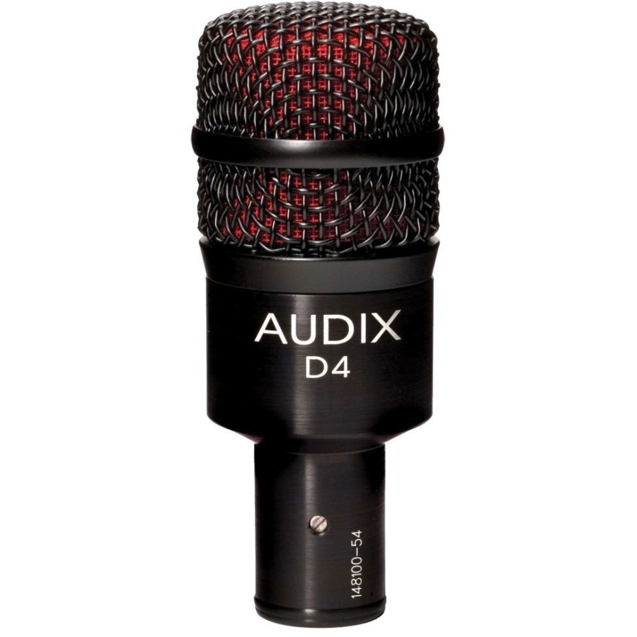 Audix D4 Dynamic Microphone, Hyper-Cardioid by Audix Microphones