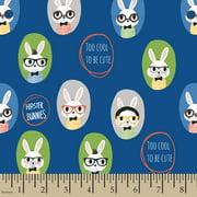 Cute Bunnies Flannel Fabric by the Yard